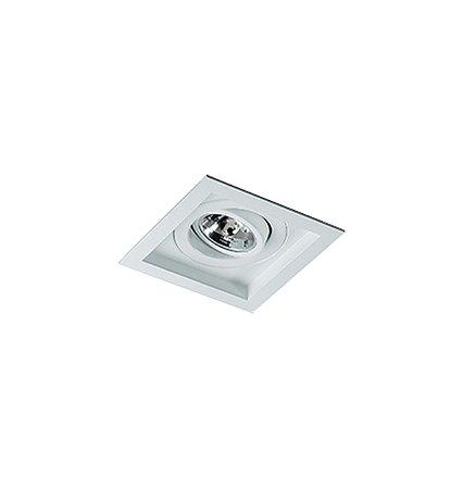 Spot Embutido Quadrado Para Lampada Gu10 Sura (RE-1214/1 BFM) Revoluz