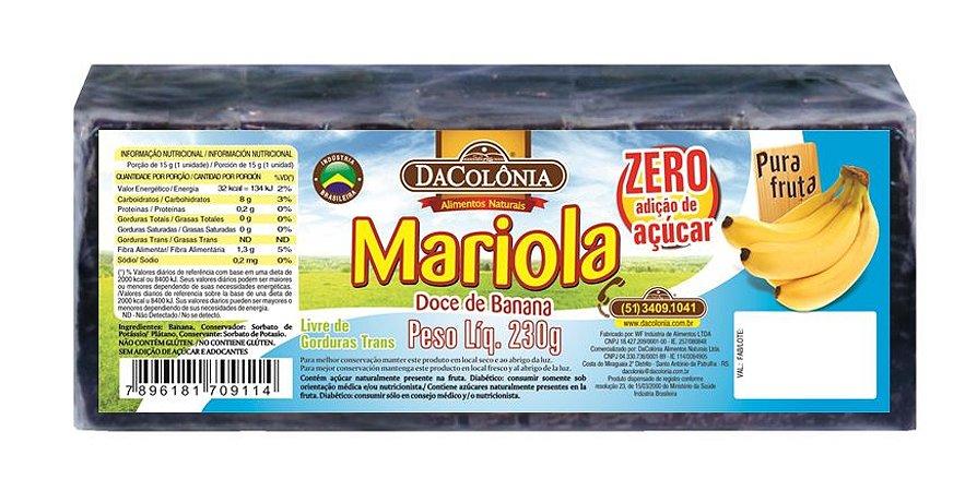 Mariola de Banana Zero Açúcar 230g