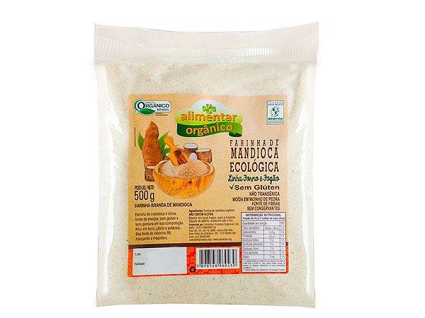 Farinha de Mandioca Orgânica Sem Glúten 500g Alimentar