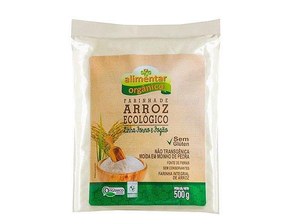 Farinha de Arroz Orgânico Sem Glúten 500g Alimentar