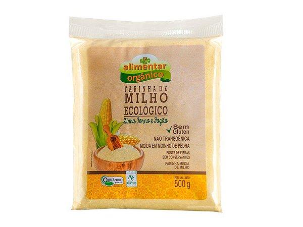 Farinha de Milho Orgânico Sem Glúten 500g Alimentar