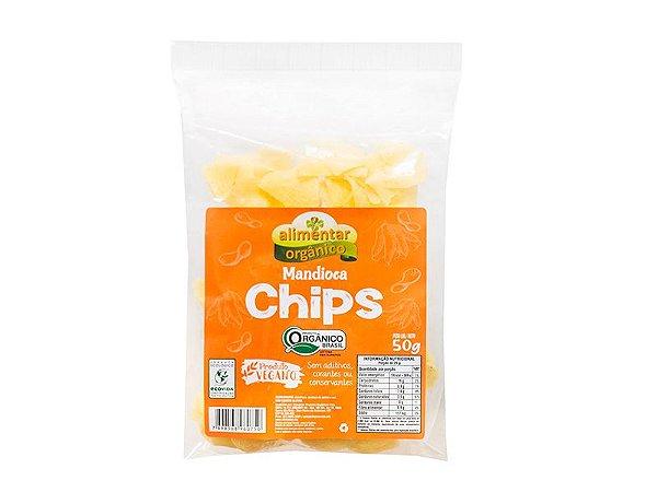 Chips de Mandioca Orgânica 50g Alimentar