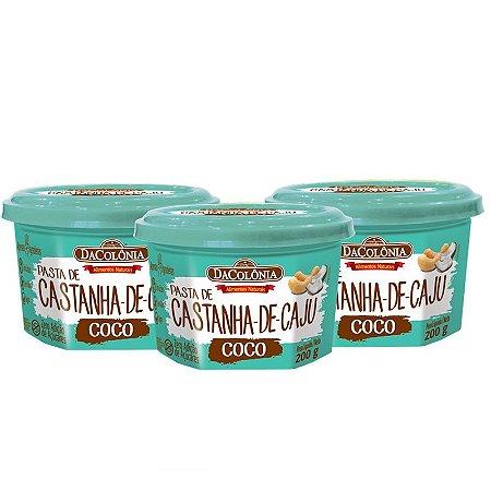 Kit 03 un Pasta de Castanha de Caju com Coco 200g