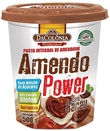 Pasta de Amendoim Amendo Power com Cacau - 500g