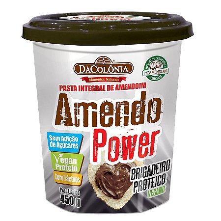 Pasta de Amendoim Amendo Power com Brigadeiro Proteico Vegano 450g