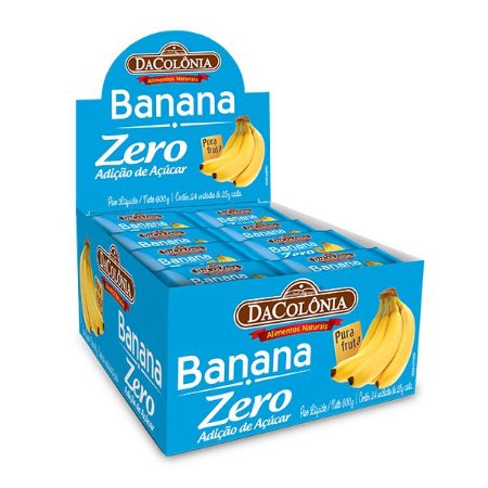 Banana Zero Display com 24un de 25g - 600g