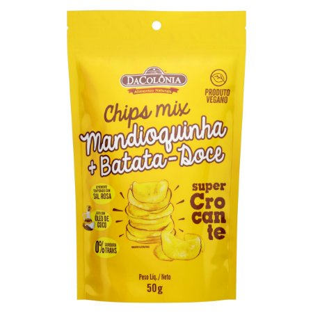 Chips Mix Mandioquinha e Batata-Doce - 50g