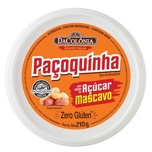 Paçoca Rolha com adição de Açúcar Mascavo - 210g