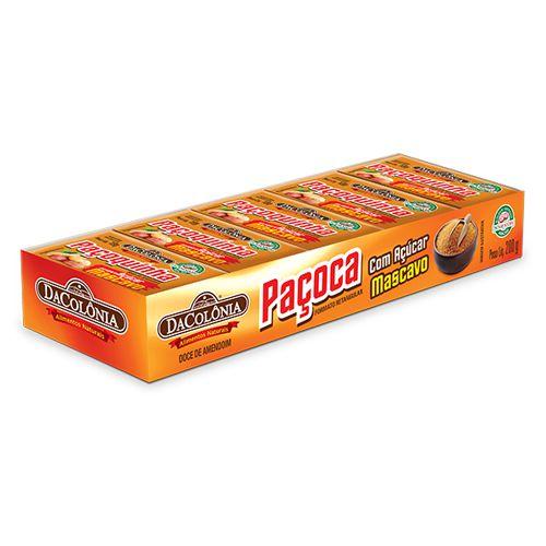 Paçoca Retangular com Açúcar Mascavo - 200g