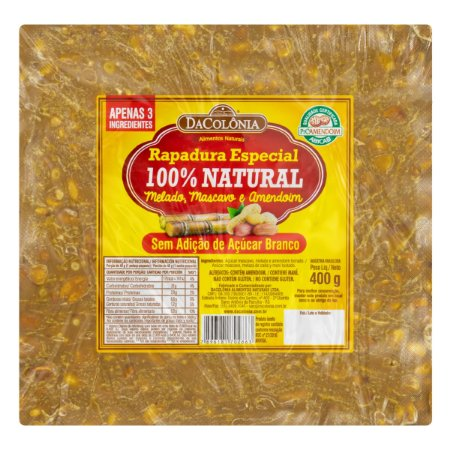 Rapadura Especial 100% Natural - 400g