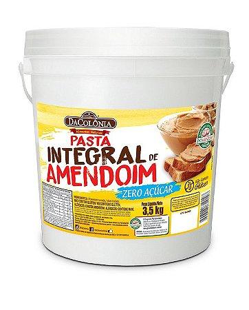 Pasta Integral de Amendoim Zero Açúcar em Balde 3,5kg