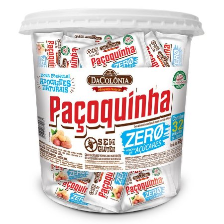 Paçoca Rolha Zero Açúcar Pote com 32 un de 18g cada - 576G