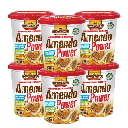 Kit 06 unidades de Amendo Power Integral de Amendoim 500g