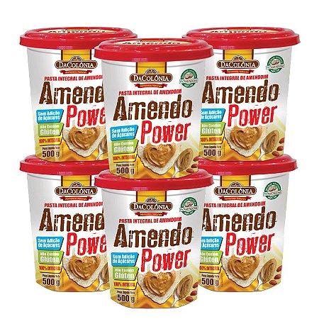 Kit 06 unidades de Amendo Power Integral de Amendoim 500g