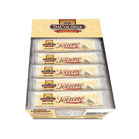 Mandolate tipo Torrone com Amendoim Display com 40 un de 20g cada - 800g