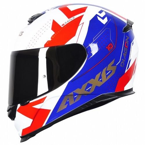Capacete Axxis Eagle Diagom Gloss white/blue/red