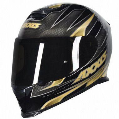 Capacete Axxis Eagle Speed Gloss Black Gold TAM;60
