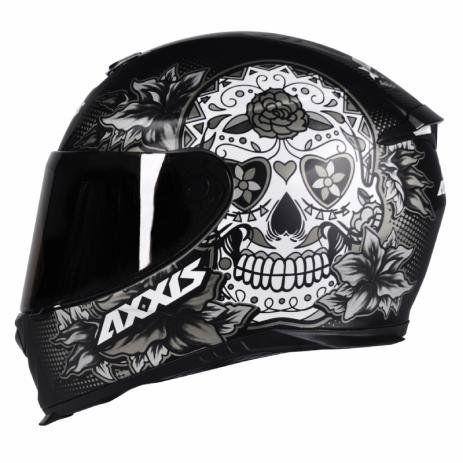 Capacete Axxis Eagle Skull Matt Black/grey