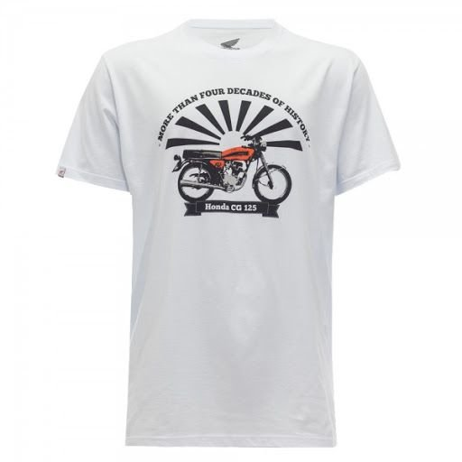 Camiseta Moto Honda - CG 125 - Branca TAM:G e GG