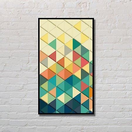 Quadro Decorativo Triângulos coloridos