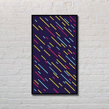 Quadro Decorativo Chuva Colorida