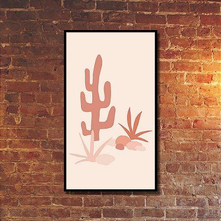 Quadro Decorativo Deserto Monocromático