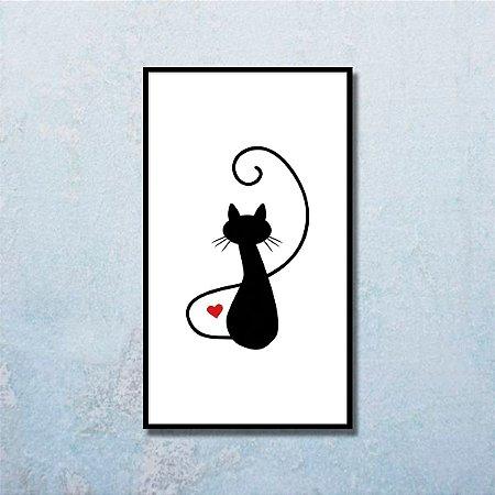 Quadro Decorativo Gato Preto