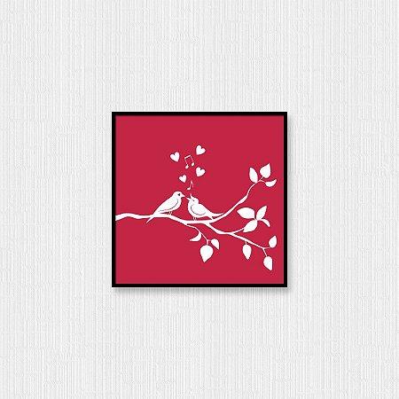 Quadro Decorativo Beijo do Passarinho