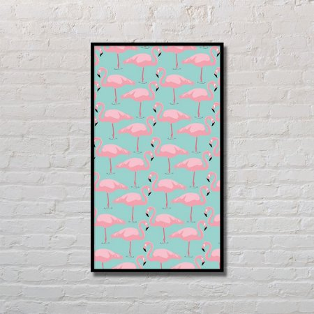 Quadro Decorativo Flamingos