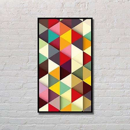 Quadro Decorativo Padrão de Triângulos