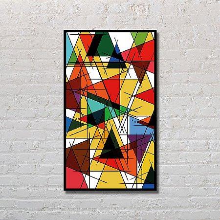 Quadro Decorativo Triângulos Sobrepostos