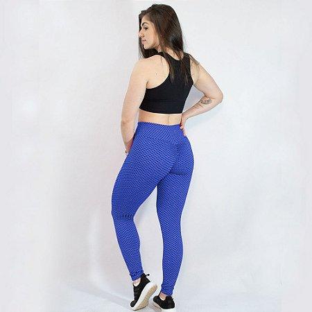 Legging TikTok Levanta Bumbum Push Up Disfarça Celulite Azul