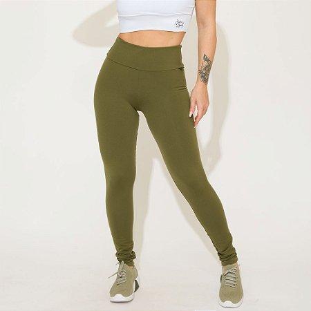 Legging  Push Up Verde Militar Lisa