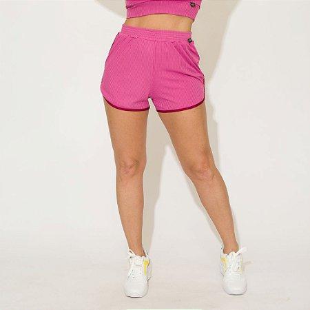 Shorts Canelado Jessi Rosa