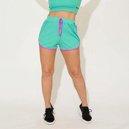Shorts Canelado Jessi Verde