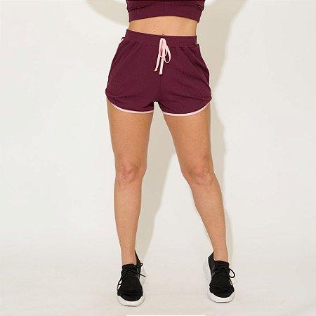 Shorts Canelado Jessi Roxo