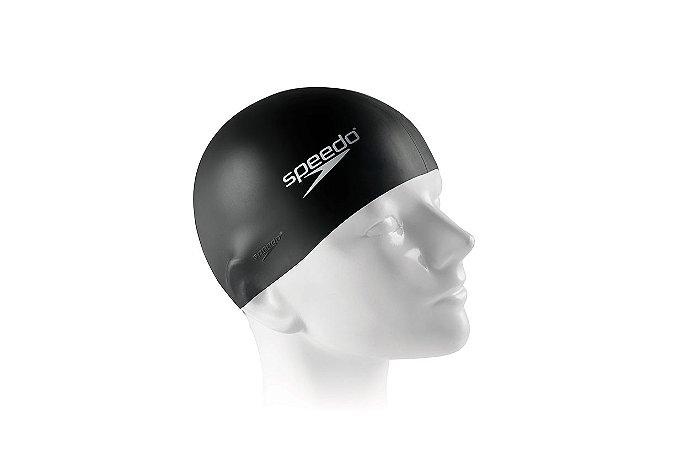 Touca Silicone para natação e hidroginástica SPEEDO Preto