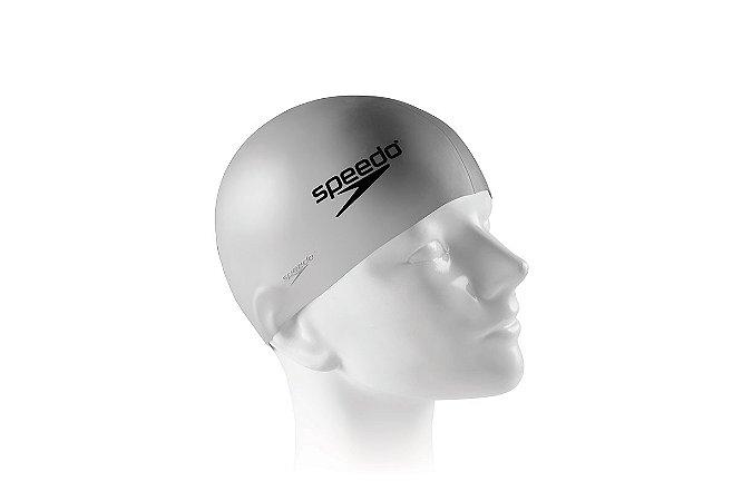Touca Silicone para natação e hidroginástica SPEEDO Prata