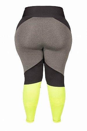 Legging Liliti Plus Size Amarelo Neon