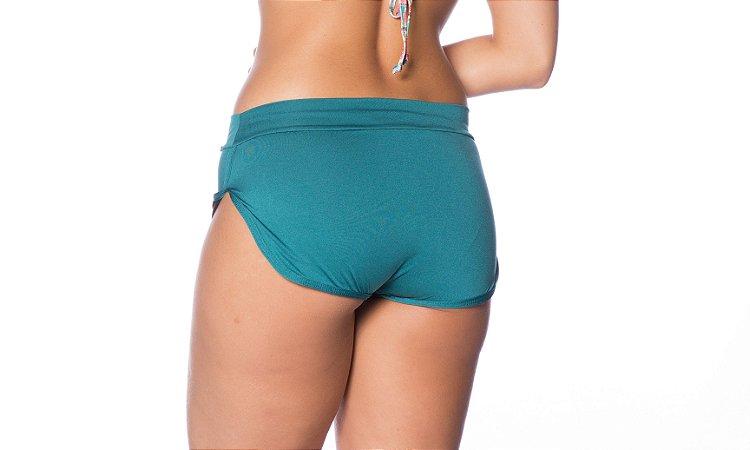 Biquíni Janfer Sport calcinha modelo shortinho Yeda com abertura lateral Verde Jan