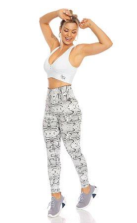 Legging modeladora jacquard Branco