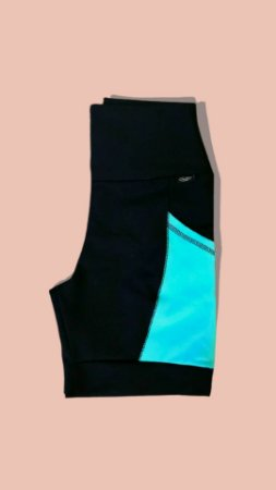 Bermuda de corrida azul turquesa