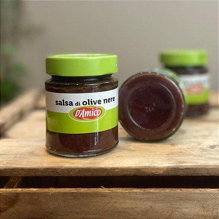 Molho de azeitonas pretas