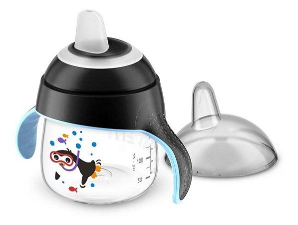 Copo Pinguim 200 ml Preto Avent