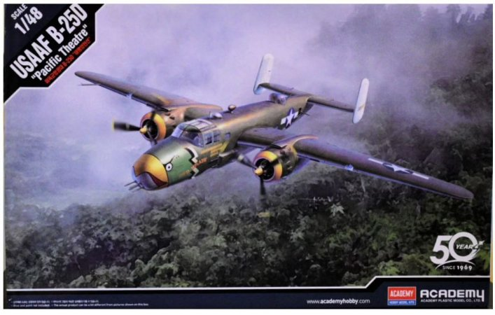 Academy - North American B-25D Pacific Theatre - 1/48