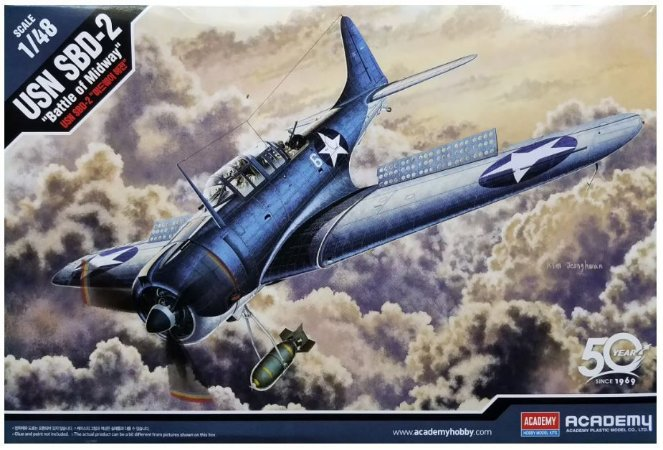 """Academy - USN SBD-2 """"Battle of Midway"""" - 1/48"""