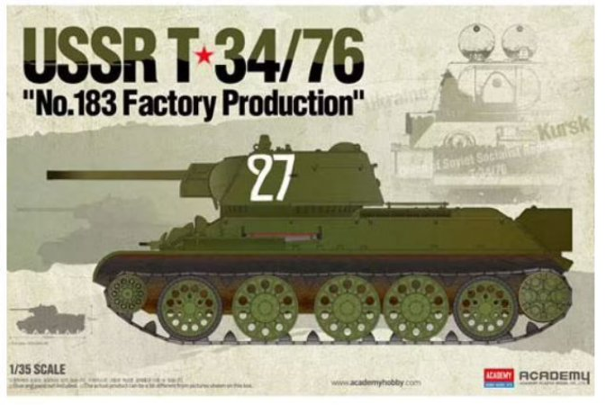"""Academy - T-34/76 """"No. 183 Factory Production"""" - 1/35"""