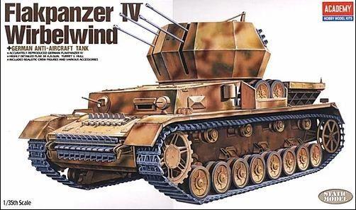 Academy - German Anti-Aircraft Tank Flakpanzer IV Wirbelwind - 1/35