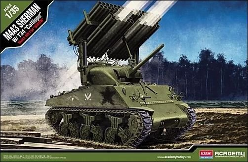 "Academy - M4A3 Sherman com T34 ""Calliope"" - 1/35"