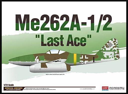 """Academy - Me262A-1/2 """"Last Ace"""" - 1/72"""
